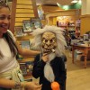 Trick or treating on Halloween in bookstore in Coral Gables, Miami.
